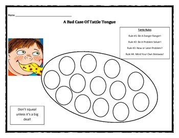 general a bad case of tattle tongue tattling coloring sheet. Black Bedroom Furniture Sets. Home Design Ideas