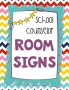 Counseling Office Signs --Cute Chevron Design