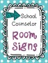 Counseling Office Signs -- Teal Polka Dots