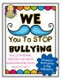 We {Mustache} You To Stop Bullying!